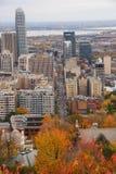 Montreal im Stadtzentrum gelegen während des Falles Lizenzfreie Stockfotos