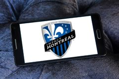 Montreal Impact Soccer Club logo. Logo of Montreal Impact Soccer Club on samsung mobile. Montreal Impact is a Canadian professional soccer team Stock Images