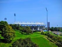 Montreal inverkan av Kanada stadion royaltyfri fotografi