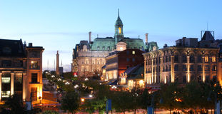 Montreal Jacques Cartier Place at dusk. Quebec, Canada Royalty Free Stock Photos