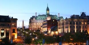 Montreal Jacques Cartier Place en la oscuridad Fotos de archivo libres de regalías