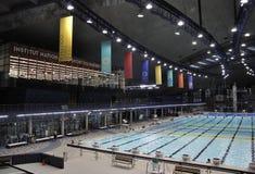 Montreal, am 27. Juni: Errichtender Innenraum Biodome im Park olympisch von Montreal in Quebec-Provinz von Kanada lizenzfreie stockfotos
