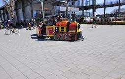 Montreal, am 26. Juni: Pavillon Jacques Cartier von Vieux-Hafen von Montreal in Kanada Lizenzfreies Stockfoto