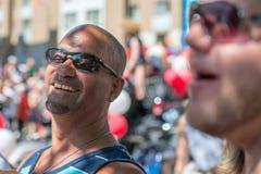 MONTREAL, KANADA - AUGUST, 18 2013 - Schwulenparade stockfotografie