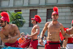 MONTREAL, KANADA - AUGUST, 18 2013 - Schwulenparade lizenzfreie stockfotos