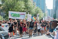 MONTREAL, KANADA - AUGUST, 18 2013 - Schwulenparade stockfoto