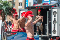 MONTREAL, KANADA - AUGUST, 18 2013 - Schwulenparade lizenzfreies stockbild