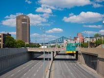 Montreal, Kanada 19. August 2018 Ville-Marielandstraße in Dowtown Montreal, Kanada stockbilder