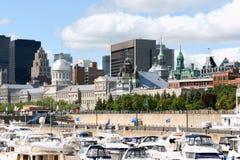 Horisont och port av Montreal Royaltyfri Foto
