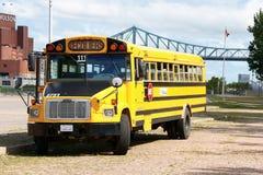 Skolbuss i Montreal Royaltyfri Fotografi