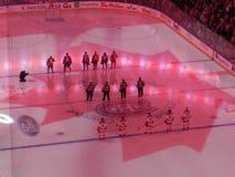 Montreal Kanada hem av Canadiensen Habs som spelar i den mittKlocka mitten royaltyfria bilder