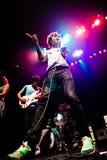 MONTREAL KANADA - Maj 23, 2013: Ra Ra Riot i konsert på metropolisen. Arkivfoto