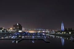 Montreal Kanada strand på natten Royaltyfria Bilder