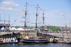 Montreal klassisk fartygfestival Arkivbilder