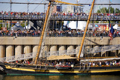 Montreal klassisk fartygfestival Arkivfoto