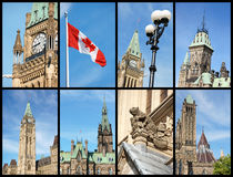 Montreal landmarks, Canada Royalty Free Stock Photos