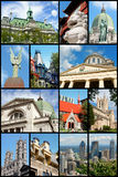 Montreal landmarks collage, Canada Stock Photos