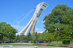 Montreal lo Stadio Olimpico e torre Fotografie Stock Libere da Diritti