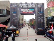 Montreal-Marathon stockfotos
