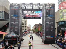 Montreal marathon stock images