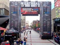 Montreal maraton royaltyfri fotografi