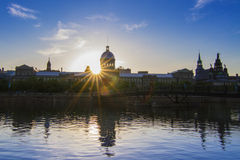Montreal Marche Bonsecours Market in the sunset Stock Photo