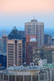 Montreal miasta linia horyzontu zdjęcie royalty free