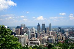 Montreal Mont Królewska linia horyzontu, Kanada Fotografia Royalty Free