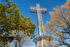Montreal Mont-Royal Cross stock images