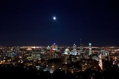 Montreal by Moon light Royalty Free Stock Image