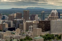 Montreal from Mount Royal Royalty Free Stock Photography
