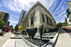 Montreal Museum of Fine Arts. Thru a fisheye lens Royalty Free Stock Images