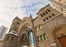Montreal-Museum von schönen Künsten im Winter stockfotos