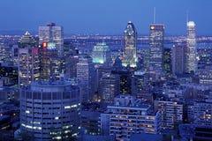 Montreal na noite Fotos de Stock