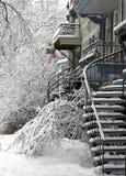 Montreal nach Sturm lizenzfreie stockfotografie