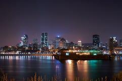 Montreal nachts lizenzfreies stockbild