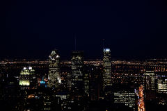 montreal nattplats Arkivbild