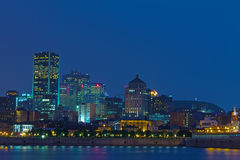 Montreal by night Royalty Free Stock Photography