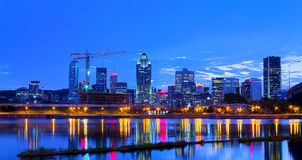 Montreal by night Stock Photos