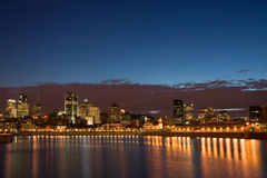 Montreal at Night. The Montreal Downtown Core at Night stock images