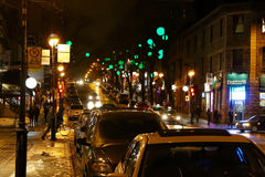 Montreal by night Royalty Free Stock Image