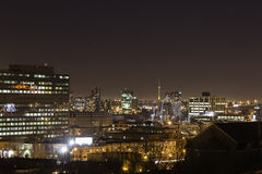 Montreal in night lights Royalty Free Stock Images