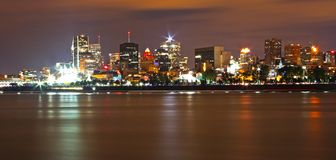 Montreal Night Panorama Royalty Free Stock Image