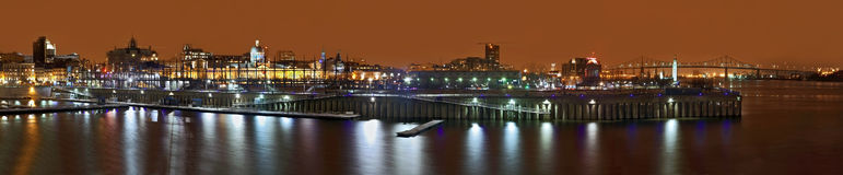 Montreal night panorama Stock Photography