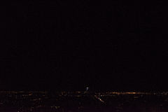 Montreal by night. Panoramic view of Montreal city, by night stock photos