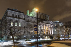 Montreal night scene Royalty Free Stock Photos
