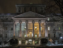 Montreal night scene Royalty Free Stock Photography