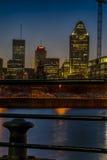 Montreal night scene stock photography