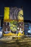 Montreal night scene stock photo