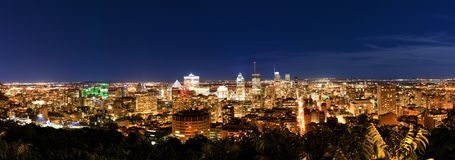 Montreal at night, view from Belvedere with amazing autumn color stock photos